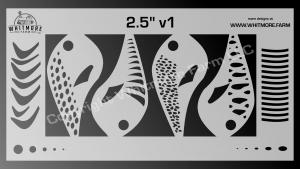 2.5 Inch Mylar Crankbait Stencil