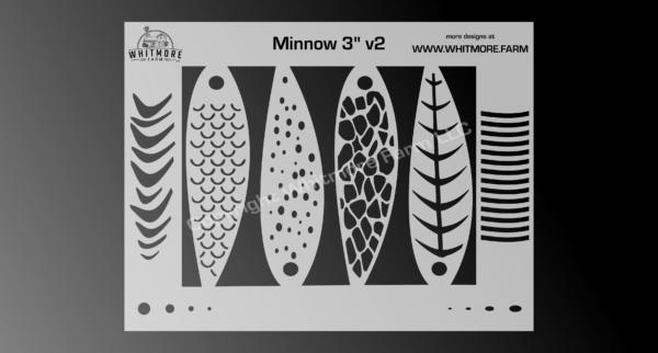 3 Inch Mylar Minnow Stencil