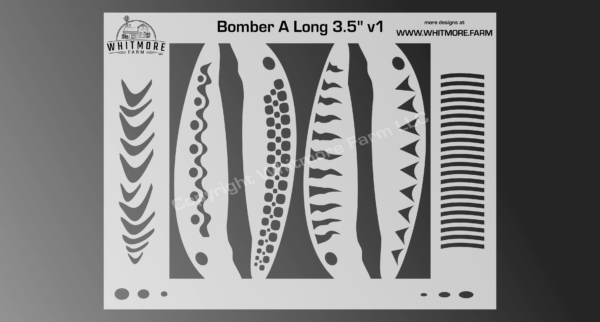 Bomber A Long fishing lure airbrush stencil - 3.5 Inch