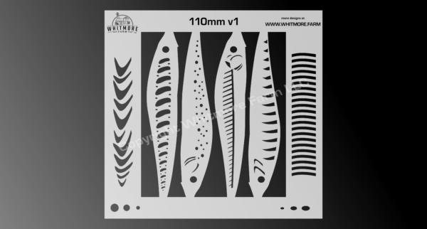 110 Jerkbait Fishing Lure Stencil