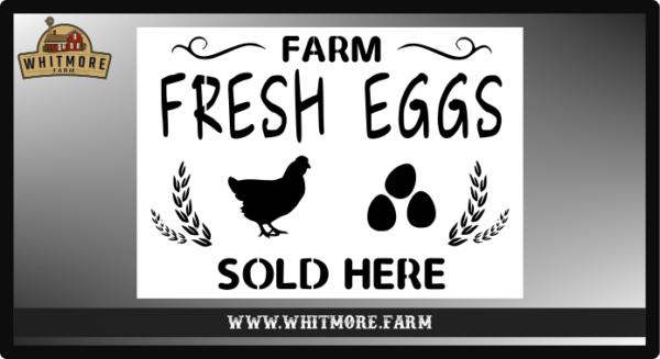 Farm Fresh Eggs Sold Here Stencil
