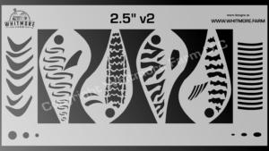 Crankbait fishing lure airbrush stencil - 2.5 Inch v2
