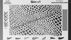 Skin texture mesh airbrush stencil