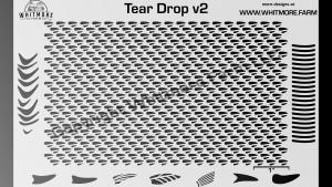 Full Teardrop Mesh Stencil v2
