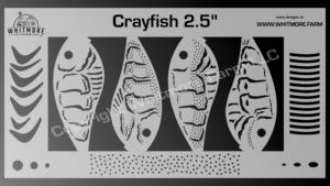 Crayfish fishing lure airbrush stencil - 2.5 Inch
