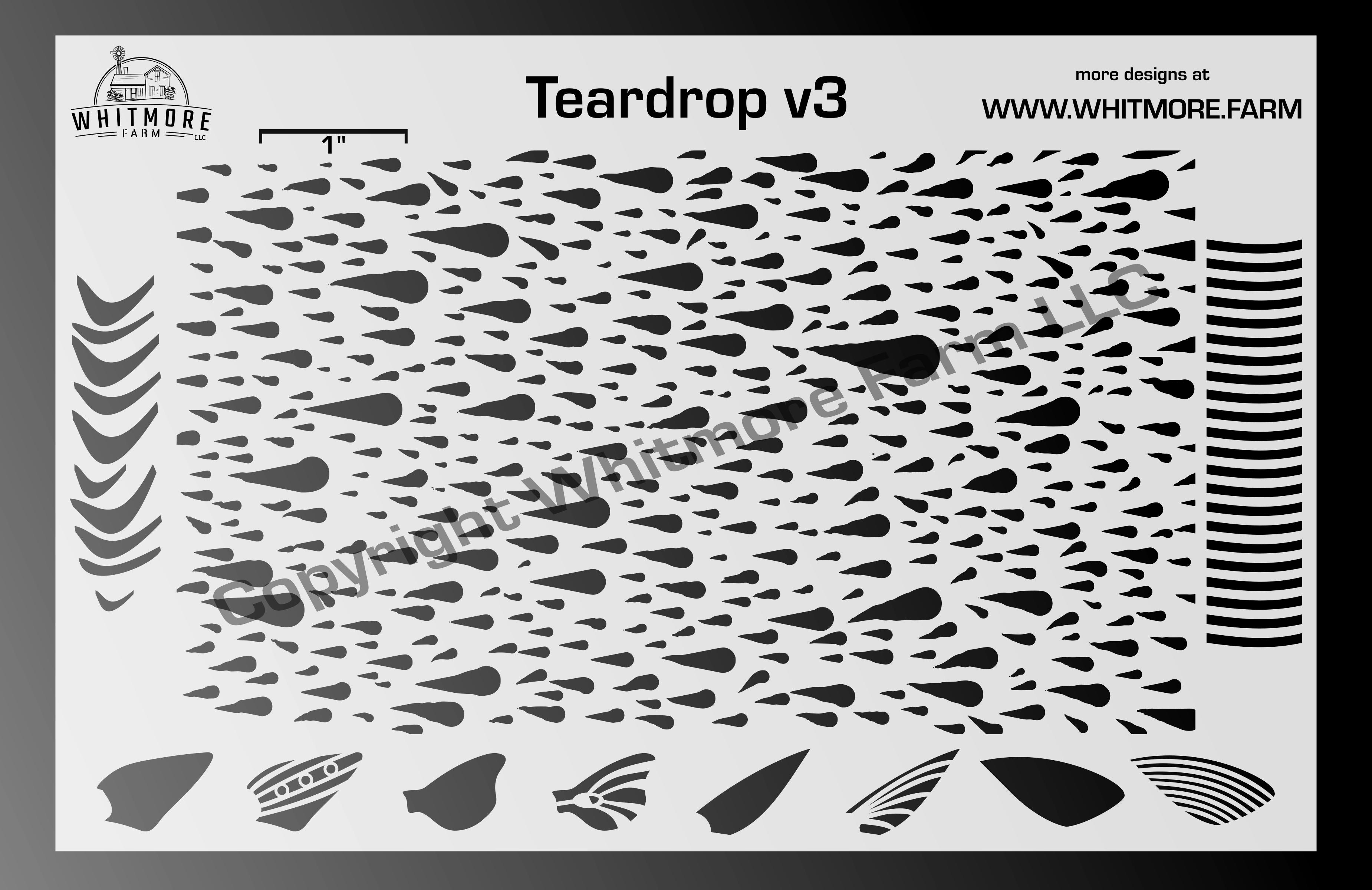 Full Teardrop Mesh Stencil v3