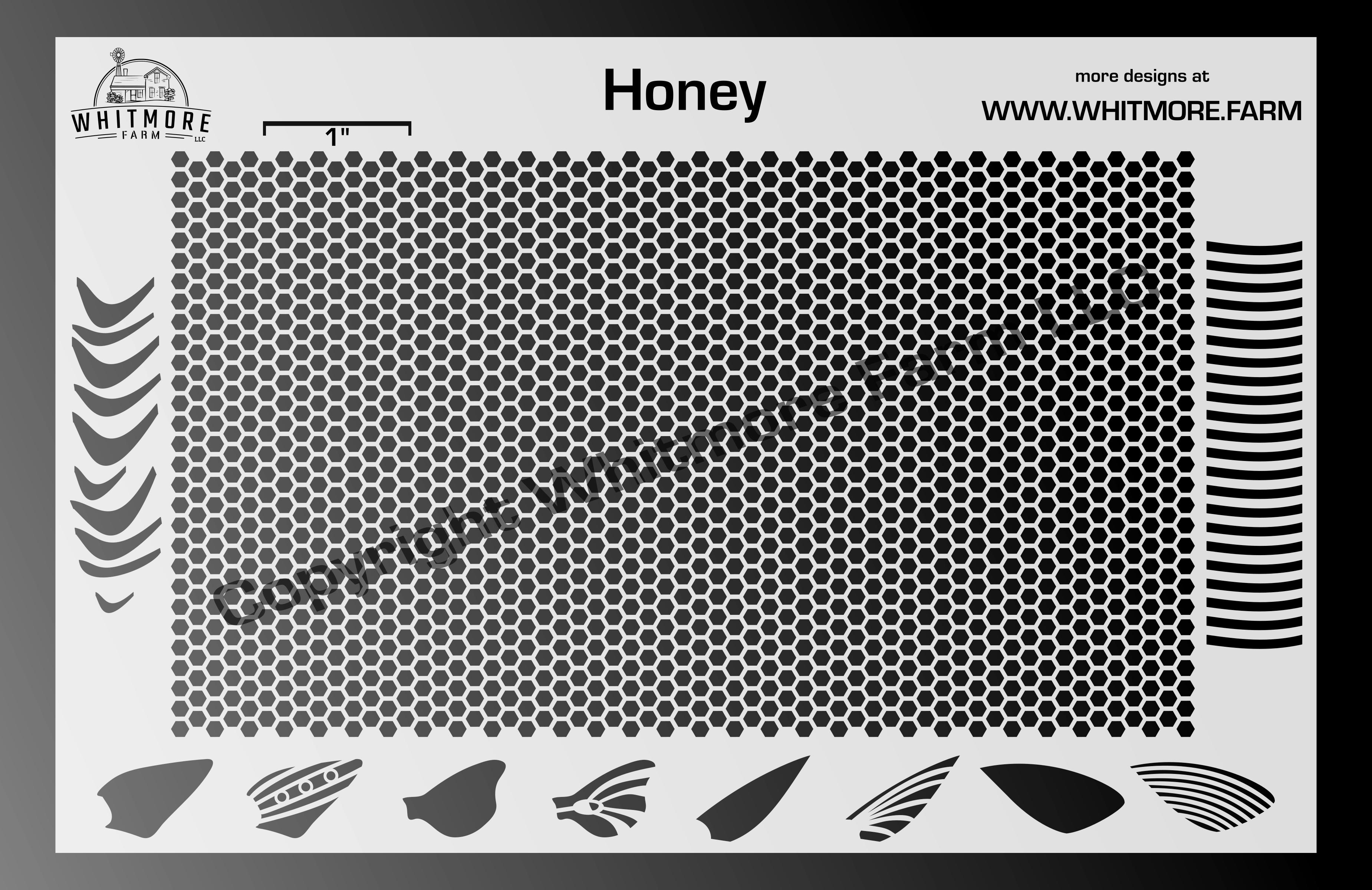 Full Honeycomb Mesh Stencil v1