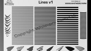 3 set Lines pattern Stencil