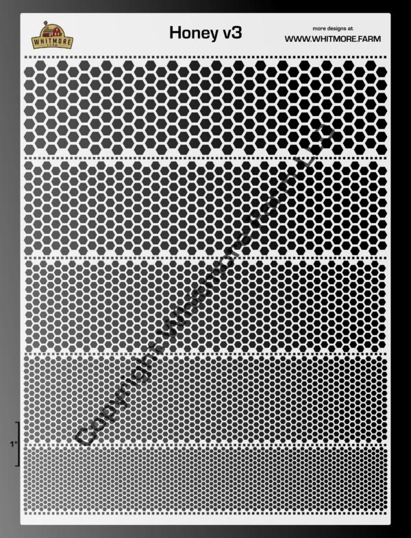 Honey v3 stencil large format