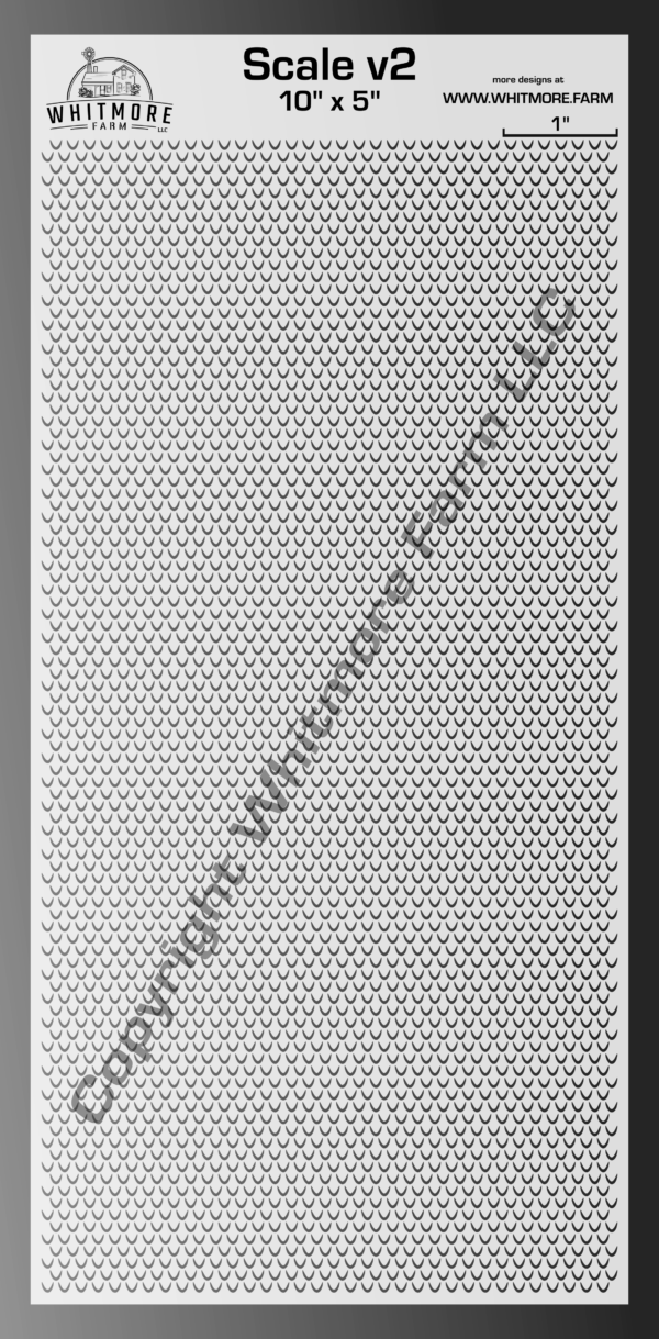 Scale v2 large format Stencil
