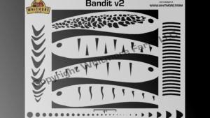 Bandit v2 fishing lure airbrush stencil