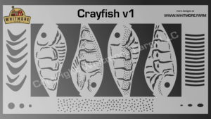 Crayfish v1 fishing lure airbrush stencil