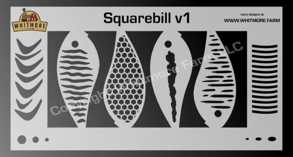 Squarebill v1 fishing lure airbrush stencil