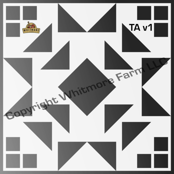 Ta1 Square Wall and Tile Stencil